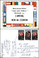 """CARTOLINE - COMMEMORATIVE - Associazione """"I Miei Amici Lebbrosi"""" Gallarate - Viaggiata FG - Francobolli"""