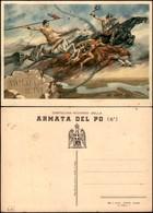 CARTOLINE - MILITARI - Armata Del PO - Ill.Bartoli - Nuova FG - Francobolli
