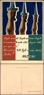 CARTOLINE - MILITARI - RSI Frase Di Mazzini - Nuova FG - Francobolli