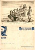 CARTOLINE - FRANCHIGIA - 1942 - Sommergibilisti - Partenza Per La Missione (F67-6) - Nuova (100) - Francobolli