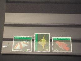 COTE D'IVOIRE - 1980 PESCI 3 VALORI - NUOVI(++) - Costa D'Avorio (1960-...)