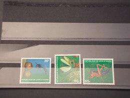 COTE D'IVOIRE - 1979 INSETTI 3 VALORI - NUOVI(++) - Costa D'Avorio (1960-...)
