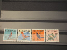 ECUADOR - 1958/9 UCCELLI 4 VALORI - NUOVI(++) - Ecuador