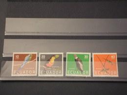 ECUADOR - 1958 UCCELLI 4 VALORI - NUOVI(++) - Ecuador