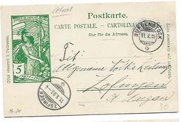 57 - 97 - Entier Postal UPU Avec Cachets à Date Burgenstock Et Zofingen 1900 - Postwaardestukken