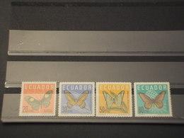 ECUADOR - 1961 FARFALLE 4 VALORI - NUOVI(++) - Ecuador