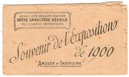 Enveloppe Publicitaire Fantaisie Conserves De Sardines AMIEUX Frères Offerte à L'Exposition Internationale De Paris 1900 - Werbung