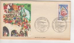 PREMIER JOUR 1977 SERIGRAPHIE DE ORTEZ   CACHET FEDERATION EUROPEENNE DE LA CONSTRUCTION PARIS ET TIMBRE - 1970-1979