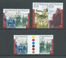 Australia 2000 Federation Anniversary Set Of 2 Pairs + 45c Gutter Pair MNH - 2000-09 Elizabeth II
