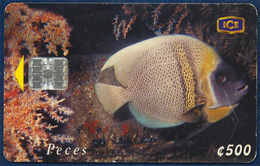COSTA RICA ICETEL 500 COLONES UNITS CHIP PHONECARD TELECARTE UNDERWATER MARINE LIFE FISH GOOD USED - Costa Rica