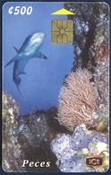COSTA RICA ICETEL 500 COLONES UNITS CHIP PHONECARD TELECARTE UNDERWATER MARINE LIFE SHARK GOOD USED - Costa Rica