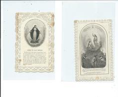 2 Images Pieuses-Voie Royale De La Croix Et Prière De Saint-Bernard - Images Religieuses