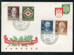 "Bundesrepublik Deutschland / 1953 / Sonderbeleg ""Deutsches Turnfest Hamburg"", SSt., Gute Frankatur (16072) - [7] République Fédérale"