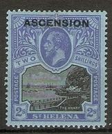 ASCENSION 1922 2s SG 7 LIGHTLY MOUNTED MINT Cat £110 - Ascension (Ile De L')