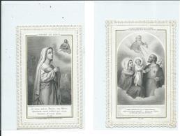 2 Images Pieuses-La Gràce Eminente De Saint-Joseph Et L'Enfant De Marie - Images Religieuses