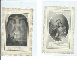 2 Images Pieuses-La Persévérance Finale Et La Vision Du Tabernacle - Images Religieuses
