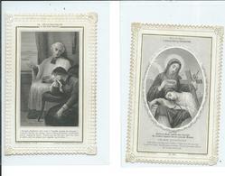 2 Images Pieuses-Le Découragement Et L'Essai De La Couronne - Images Religieuses