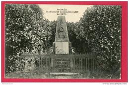 CPA (Réf : U 931) MORÉE (41 LOIR-et-CHER) Monument Commémoratif De 1870 - Moree