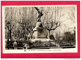 CPA (Réf : B 296) 35 BLIDA (AFRIQUE -ALGÉRIE) Le Monument Aux Morts - Place D'Alger (animée) - Blida
