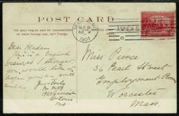 Ref 1293 - 1907 Bath Postcard - Annex Station St Louis Missouri USA Postmark - 2c Jamestown Stamp - United States