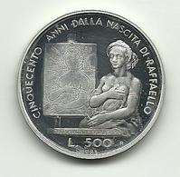 1983 - San Marino 500 Lire Argento - Raffaello - San Marino