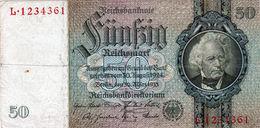 Billet Allemand De 50 Reichsmark Le 30-mars-1933 - 7 Chiffres En T B - - 50 Mark