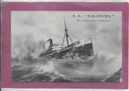 S.S. SALZBURG  Route Pour Le Levant - Steamers