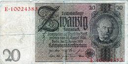 Billet Allemand De 20 Reichsmark Le 22-janvier-1929 - 8 Chiffres En B - - [ 3] 1918-1933: Weimarrepubliek