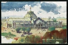 Ref 1294 - 1906 Unused Postcard Milan Fair Italy - France French Decorative Arts Pavilion - Esposizione Exhibition - Exhibitions