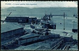"Ref 1294 - 1930 Italy Croatia Postcard Fiume To Trieste - Mess. Fiume S. Pietrodel Carso ""A"" Cancel - Croatia"