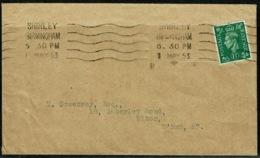 Ref 1294 - 1953 GB Cover - Good Shirley Birmingham Krag Cancel On 1 1/2d GVI Stamp - Printed Matter Rate? - 1952-.... (Elizabeth II)
