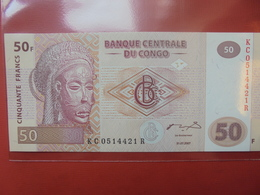 CONGO 50 FRANCS 2007 PEU CIRCULER/NEUF - Congo