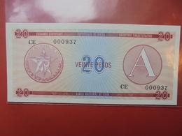 """CUBA 20 PESO SERIE """"A"""" PEU CIRCULER/NEUF - Kuba"""