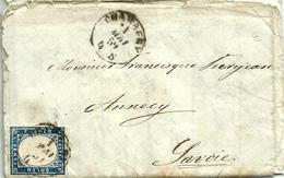 LAC. De CHAMBERY Pour ANNECY -N° 12 Du Duché De  Savoie  - 1854 - - Sardaigne