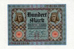 Billet Allemand De 100 Mark - 1-novembre-1920 - 7 Chiffres En S U P- - [ 3] 1918-1933 : Repubblica  Di Weimar