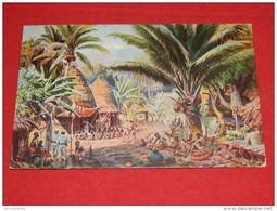 """FANTAISIES - Illustrateur  FRANZ BUKACZ -  """" Deutschland  Kolonien - Dorf Mit  Blick Auf Den Kamerunberg """" - Autres Illustrateurs"""