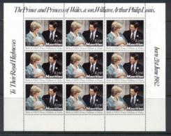 Mauritius 1982 Birth Of Prince William, Diana & Charles Sheet MUH - Mauritius (1968-...)
