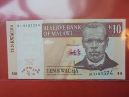MALAWI 10 KWACHA 2004 PEU CIRCULER/NEUF - Malawi