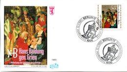"""Westberlin Schmuck-FDC Mi. 749 """"Weihnachten 1985"""" ESSt 12.11.1985 BERLIN 12 - Berlin (West)"""