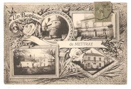 CPA 37 METTRAY Un Bonjour De Mettray - Gendarmerie - Mairie - Château - (Peu Commune) - Mettray