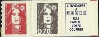 "FR YT 2874c "" Briat SV + 70c. + Vignette "" 1994 Neuf** - 1989-96 Bicentenial Marianne"