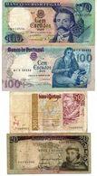 10 Billets Du Portugal-5 De 100 Escudos-4 De 20 Escudos & 1 De 500 Escudos - Portugal