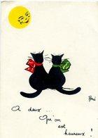 CHATS  - Chat Noir: A Deux... Qu'on Est Heureux -  Illustrateur: René - Katten