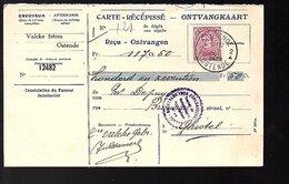 Ontvangkaart Valcke Frères Ostende GHISTELLE (635) - Belgio