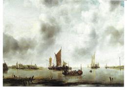 3053h: Kunst- AK Jan Van De Cappelle (1624-1679), Boote In Der Schelde- Mündung 1651 - Illustrateurs & Photographes