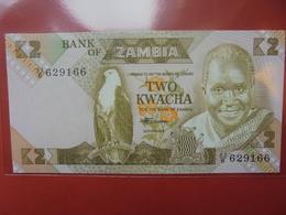 ZAMBIE 2 KWACHA 1980-88 PEU CIRCULER/NEUF - Sambia