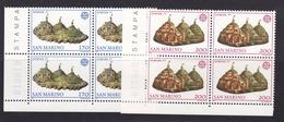 1977 San Marino Saint Marin EUROPA CEPT EUROPE 4 Serie Di 2v. MNH** Quartina Bl.4 - 1977