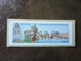 2007 LISA1  CHAMPIONNAT PHILATELIQUE INTERREGIONAL MACON  0,54€  (vendue à La Valeur Faciale)  ** MNH - 1999-2009 Vignettes Illustrées