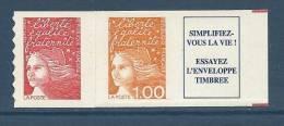 """FR Adhesif YT 16b (YT 3101b) """" Luquet SV + 1F + Vignette """" 1997 Neuf ** - 1997-04 Marianne Du 14 Juillet"""