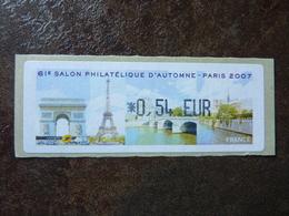 2007 LISA1 SALON PHILATELIQUE AUTOMNE PARIS 0,54€  (vendue à La Valeur Faciale)  ** MNH - 1999-2009 Vignettes Illustrées